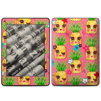 Amazon Kindle Voyage Skin - Happy Kawaii Pineapples