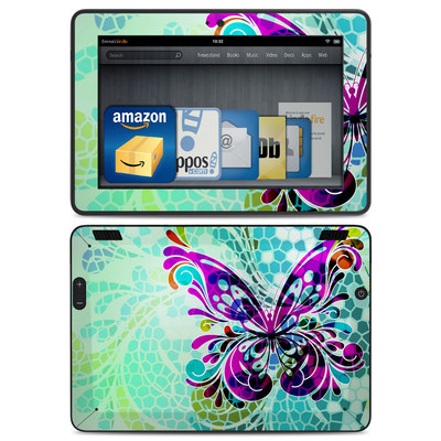 Amazon Kindle HDX Skin - Butterfly Glass