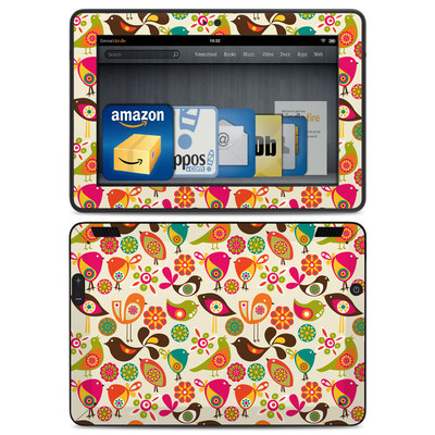 Amazon Kindle HDX Skin - Bird Flowers
