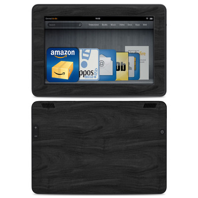 Amazon Kindle HDX Skin - Black Woodgrain