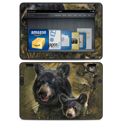 Amazon Kindle HDX Skin - Black Bears