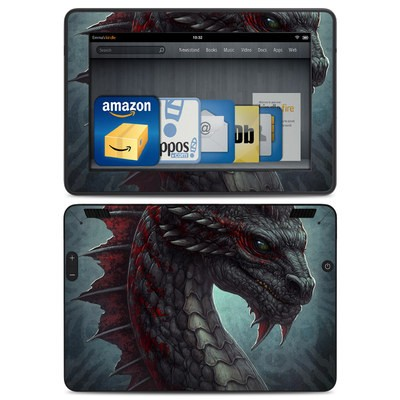 Amazon Kindle HDX Skin - Black Dragon