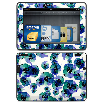 Amazon Kindle HDX Skin - Blue Eye Flowers