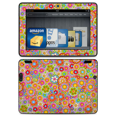 Amazon Kindle HDX Skin - Bright Ditzy
