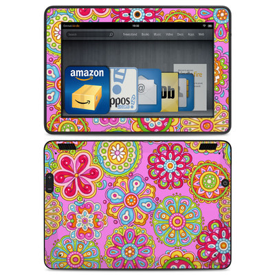Amazon Kindle HDX Skin - Bright Flowers