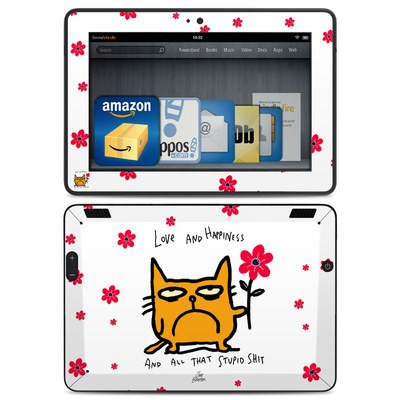 Amazon Kindle HDX Skin - Catwad Happy