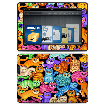 Amazon Kindle HDX Skin - Colorful Kittens