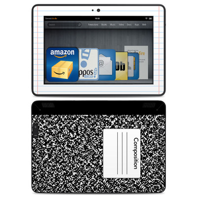 Amazon Kindle HDX Skin - Composition Notebook