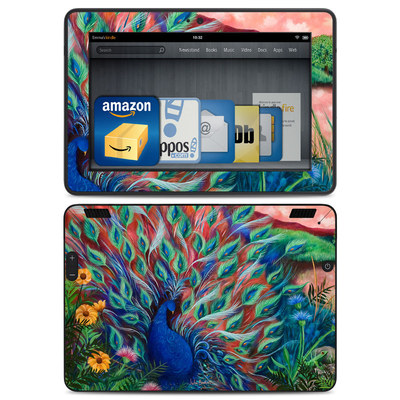 Amazon Kindle HDX Skin - Coral Peacock