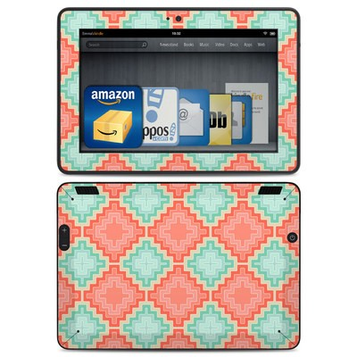 Amazon Kindle HDX Skin - Coral Diamond