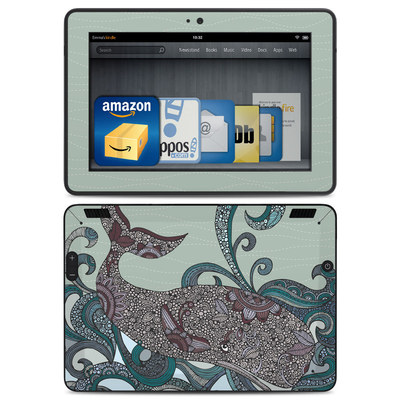 Amazon Kindle HDX Skin - Deep Blue Me