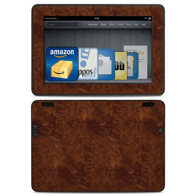 Amazon Kindle HDX Skin - Dark Burlwood