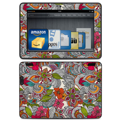 Amazon Kindle HDX Skin - Doodles Color