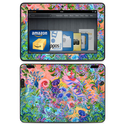 Amazon Kindle HDX Skin - Fantasy Garden