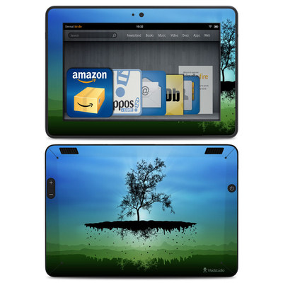 Amazon Kindle HDX Skin - Flying Tree Blue