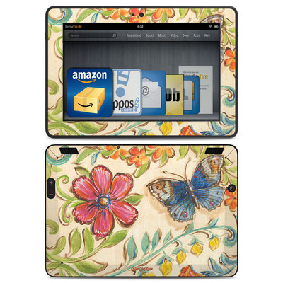 Amazon Kindle HDX Skin - Garden Scroll