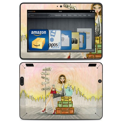 Amazon Kindle HDX Skin - The Jet Setter