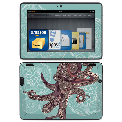 Amazon Kindle HDX Skin - Octopus Bloom