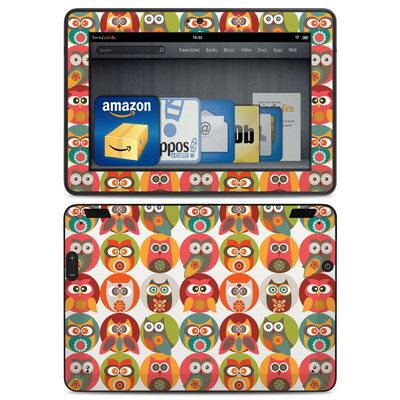 Amazon Kindle HDX Skin - Owls Family