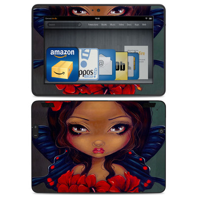 Amazon Kindle HDX Skin - Red Hibiscus Fairy