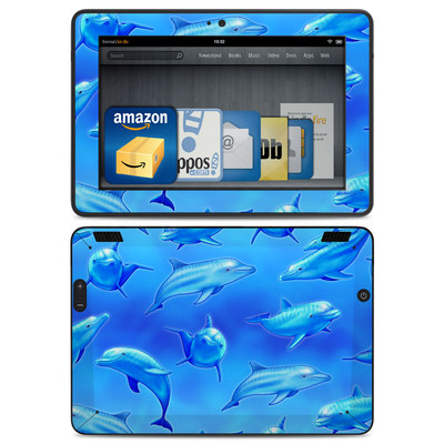 Amazon Kindle HDX Skin - Swimming Dolphins