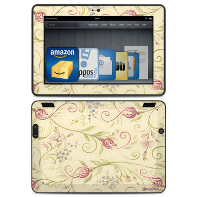 Amazon Kindle HDX Skin - Tulip Scroll