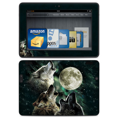 Amazon Kindle HDX Skin - Three Wolf Moon