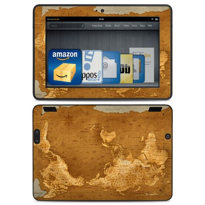 Amazon Kindle HDX Skin - Upside Down Map