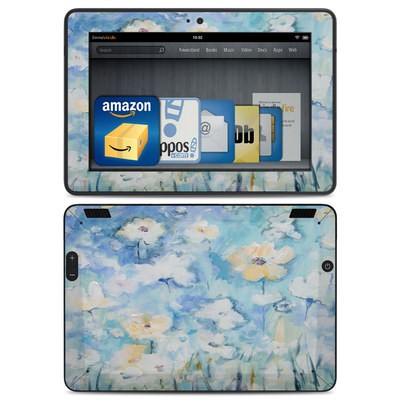 Amazon Kindle HDX Skin - White & Blue