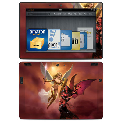 Amazon Kindle HDX 8.9 Skin - Angel vs Demon