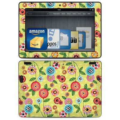 Amazon Kindle HDX 8.9 Skin - Button Flowers