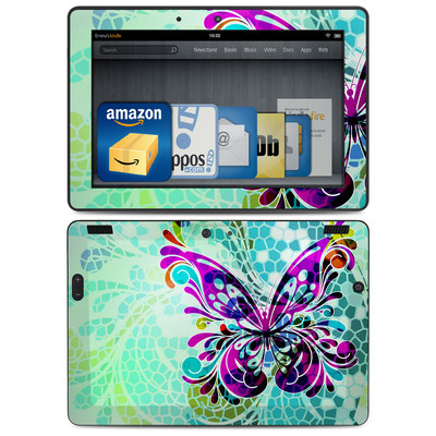 Amazon Kindle HDX 8.9 Skin - Butterfly Glass