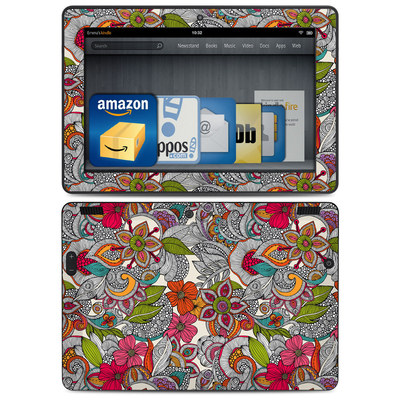 Amazon Kindle HDX 8.9 Skin - Doodles Color