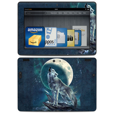 Amazon Kindle HDX 8.9 Skin - Howling Moon Soloist
