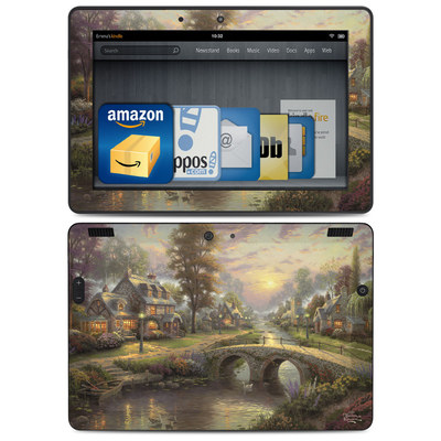 Amazon Kindle HDX 8.9 Skin - Sunset On Lamplight Lane