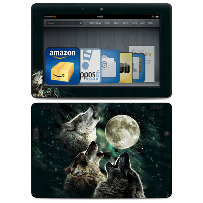 Amazon Kindle HDX 8.9 Skin - Three Wolf Moon