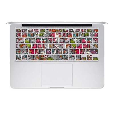 Apple MacBook Keyboard 2011-Mid 2015 Skin - Doodles Color