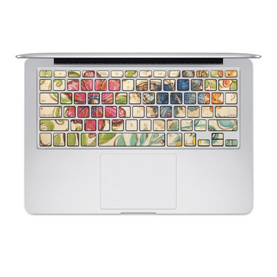 Apple MacBook Keyboard 2011-Mid 2015 Skin - Garden Scroll