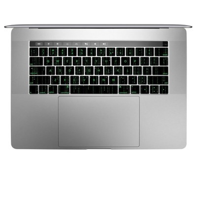 Apple MacBook Pro 13 and 15 Keyboard Skin - Matrix Style Code