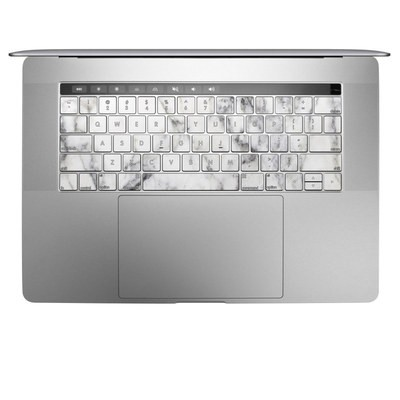 Apple MacBook Pro 13 and 15 Keyboard Skin - White Marble