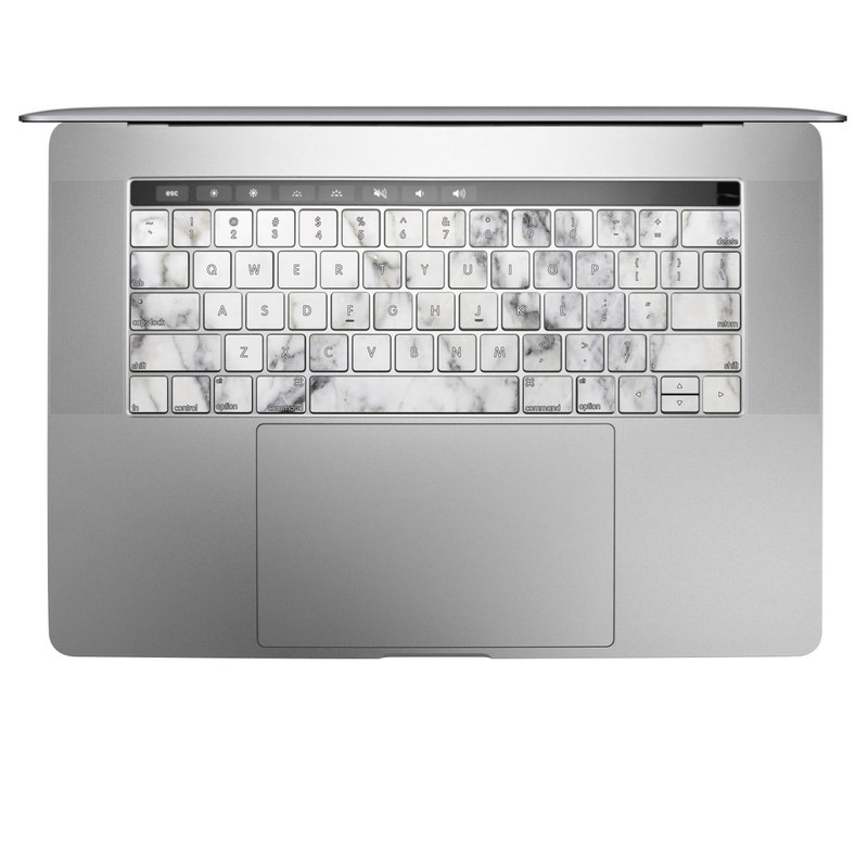 Apple Macbook Pro 13 And 15 Keyboard Skin White Marble