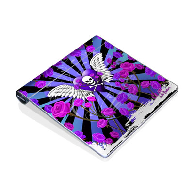 Magic Trackpad Skin - Skull & Roses Purple