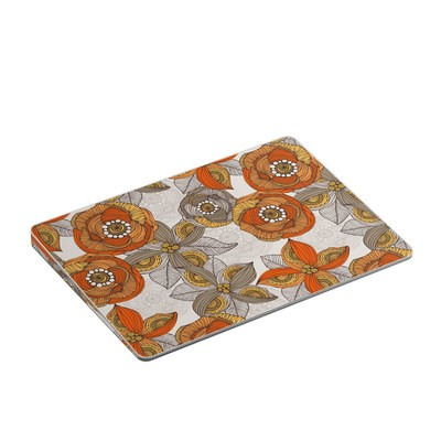 Apple Magic Trackpad Gen 2 Skin - Orange and Grey Flowers