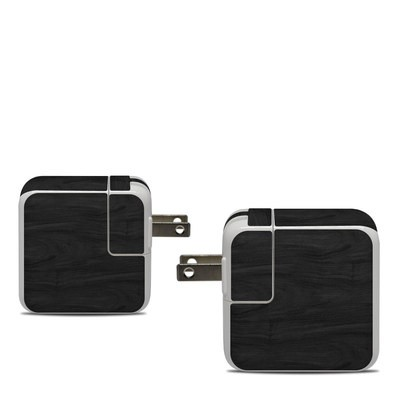 Apple 30W USB-C Power Adapter Skin - Black Woodgrain