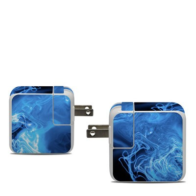 Apple 30W USB-C Power Adapter Skin - Blue Quantum Waves