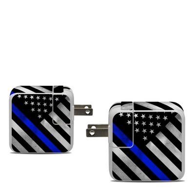 Apple 30W USB-C Power Adapter Skin - Thin Blue Line Hero