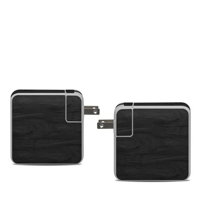 Apple 61W USB-C Power Adapter Skin - Black Woodgrain
