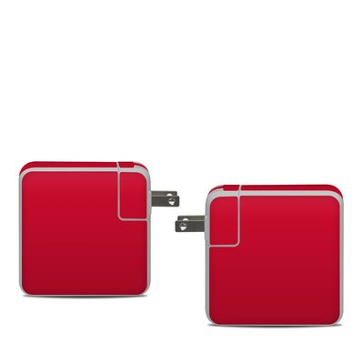 Apple 61W USB-C Power Adapter Skin - Solid State Red