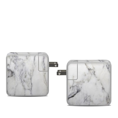 Apple 61W USB-C Power Adapter Skin - White Marble