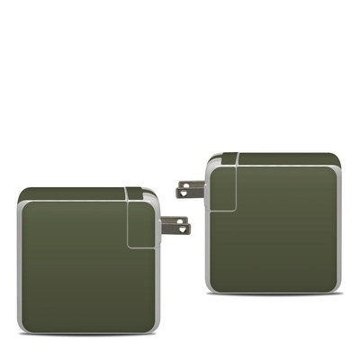 Apple 87W USB-C Power Adapter Skin - Solid State Olive Drab